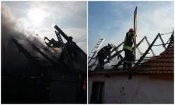 Incendiul a distrus acoperişul unui case din Chişineu Criş