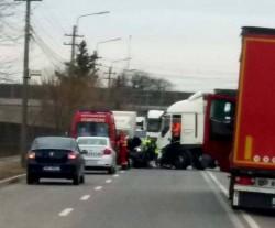 Accident rutier în Arad, pe Calea Bodrogului