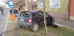 Accident rutier în Arad, la intersecția străzii Oituz cu Liviu Rebreanu