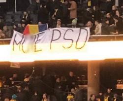 După ce i-au retras numerele celebre cu M..E PSD, la meciul România – Suedia, mesajele anti-Dragnea şi anti-PSD au oprite la intrarea în stadion!
