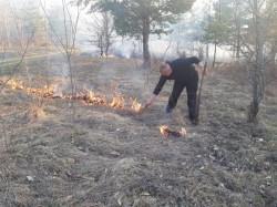 Un incendiu întins pe 20 ha în zona localităţii Nadaş, a mobilizat peste 80 de oameni