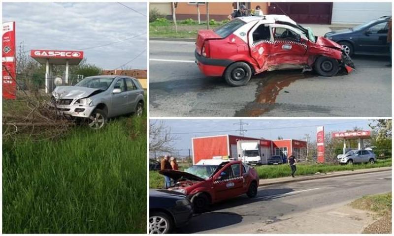 Un taximetrist grăbit a provocat un accident rutier pe Voinicilor