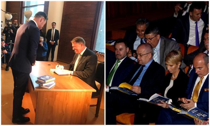 """Primarul Falcă, alături de preşedintele Iohannis la lansarea cărţii """"EU.RO. Un dialog deschis despre Europa"""""""