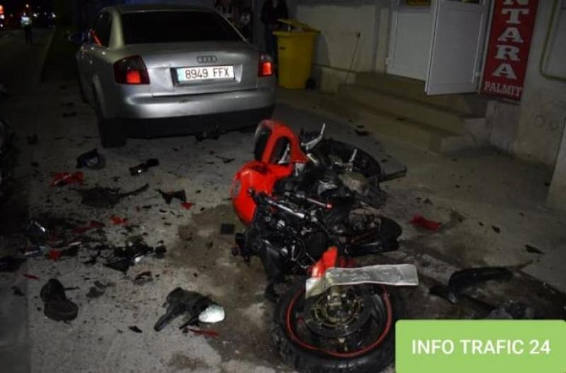 Doi tineri răniți grav în urma unui accident de motocicletă, produs în Arad