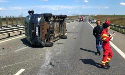 Trafic BLOCAT pe autostrada Arad-Timișoara în urma unui accident rutier