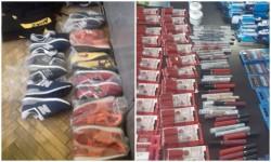 Încălțăminte contrafăcute, în valoare de peste 7.500 lei, retrase de pe piață de jandarmi