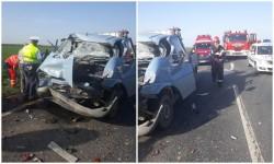 Accident grav cu patru victime, la intrare în localitatea Şimand!
