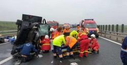 Accident grav în prima zi de Paşti pe Autostrada A1 Timișoara – Arad