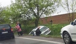 """Accident pe drumul Arad-Timişoara în """"curba morţii"""""""