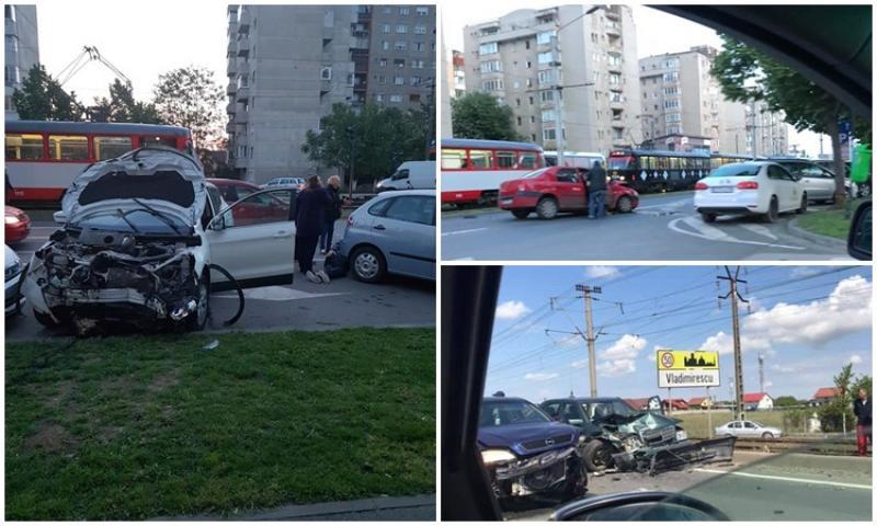 Două accidente au avut loc sâmbătă. Dacă în Vladimirescu s-au ciocnit frontal, la Fortuna, un intalian a trecut pe roşu şi a rănit o femeie