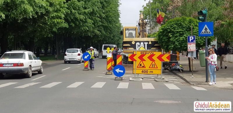 Front nou de lucru pentru reţeaua de canalizare de pe Bulevardul Revoluţiei
