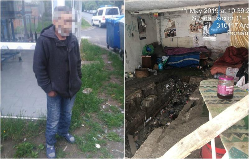 Adăpost improvizat, demolat de Poliţia Locală în urma sesizărilor