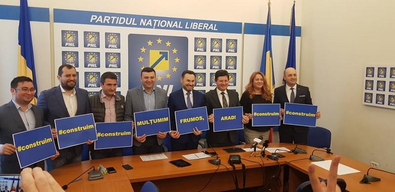 PNL Arad a mulţumit pentru votul primit şi va anunţa în curând candidatul pe care-l propune la Primăria Aradului în 2020