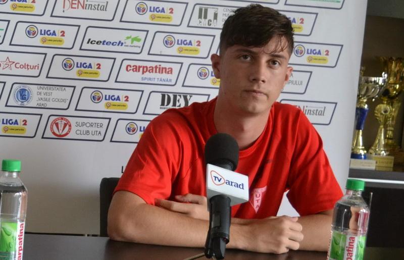 """Miculescu, despre următorul sezon: """"Îmi doresc să rămân la UTA și să promovăm în Liga I"""""""