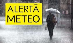 Alertă METEO! Trei zile de ploi torenţiale, descărcări electrice, vijelii şi căderi de grindină!