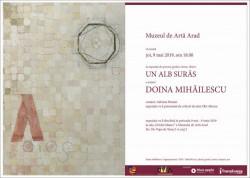 Expoziție de pictură, grafică și desen de DOINA MIHĂILESCU - UN ALB SURÂS