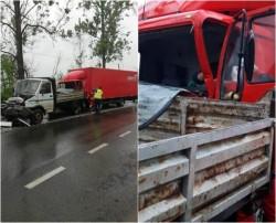 Victimă încarcerată în urma unui accident pe drumul Arad-Deva