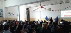 Polițiștii arădeni au participat la o întâlnire cu elevii din Vladimirescu