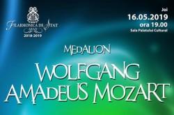 Medalion Wolfgang Amadeus Mozart la Filarmonică