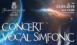 Concert vocal simfonic la Filarmonică