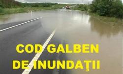 Cod galben de inundații în Arad şi alte 21 de judeţe