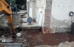 """""""Dorel"""" lovește din nou - a inundat o clădire de lângă Spitalul Municipal"""