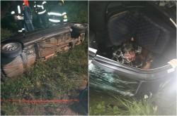 Persoană încarcerată în accident lângă Cermei