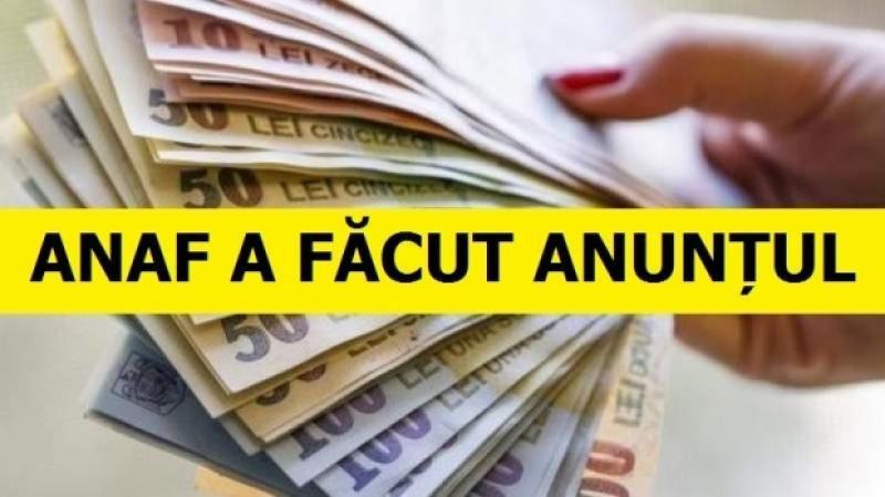 Anunţ de la ANAF pentru toţi românii. Se dau SMS-uri şi emailurile cu bani pe care îi plăteşte FISCUL contribuabililor