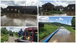 Aproximativ 20 gospodarii inundate în satul Lalasant, din comuna Bârzava