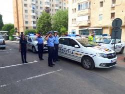 Momente de reculegere la Arad, pentru polițistul ucis