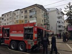 Persoane evacuate dintr-un bloc din Arad, unde a izbucnit un incendiu