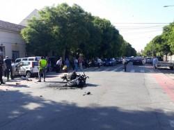 Motociclist accidentat în urma unui impact pe Mărășești
