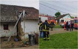 UPDATE: Fetița va fi transferată cu elicopterul la București| Incendiu la o casă din Pecica! O fetiță de 2 ani are arsuri grave