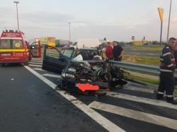 Tragedie pe autostrada A1! Doi oameni au murit și doi copii se află în comă după un impact violent cu un autoturism care circula pe CONTRASENS