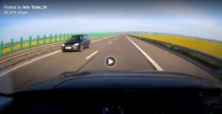 Bizonul Zilei: O șoferiță a condus pe CONTRASENS pe autostradă în vestul țării! (VIDEO)