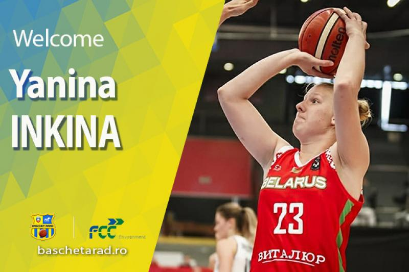 """Încă o jucatoare de națională la FCC Baschet Arad! Bielorusa Yanina Inkina e noua achiziție a """"galben-albastrelor"""""""