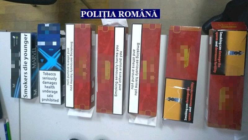 Contrabandă cu țigări în Sântana