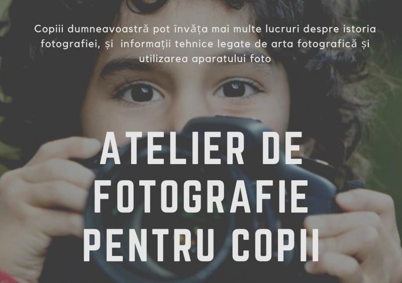 Atelier de fotografie pentru copii la Biblioteca Estivală