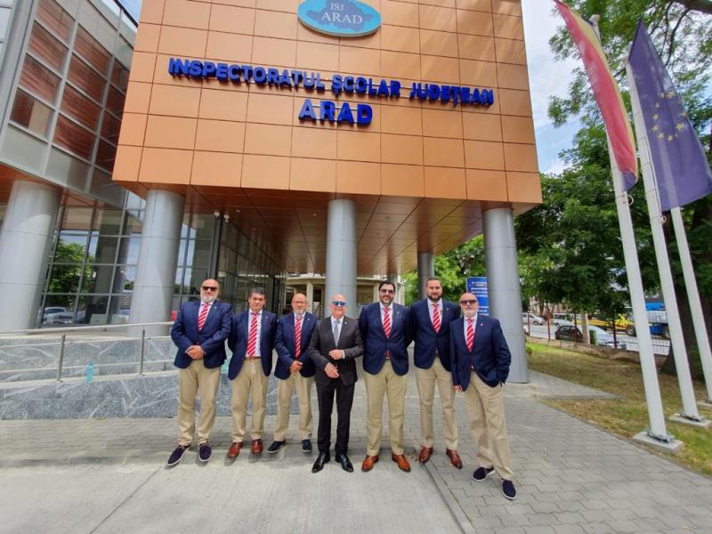 Delegația festivalului cu temă istorică - InTimes - a ajuns la ISJ Arad