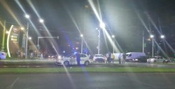Eveniment rutier spectaculos la Arad, în care a fost implicată o mașină a poliției