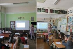 Sesiuni de prezentare în școli privind ariile naturale protejate Comloșu Mare, Pădurea Paniova și Pajiștea Cenad