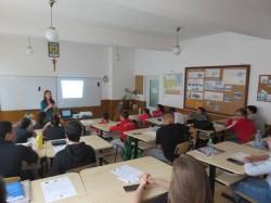 Sesiuni de prezentare în școli privind ariile naturale protejate Mlaștinile Satchinez