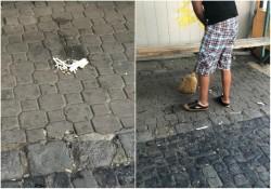 Tupeu maxim la Boul Roșu. Și-a luat amendă usturătoare după ce a consumat alcool pe domeniul public și a aruncat pe jos mucuri de țigară, în fața polițiștilor