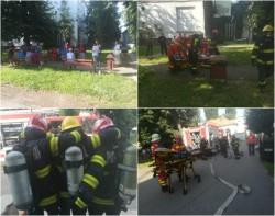 Pompierii au intervenit la Spitalul Municipal pentru un exercițiu de simulare cutremur urmat de incendiu