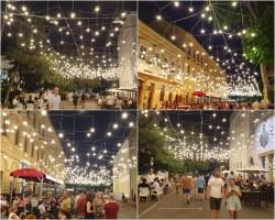 Bolta luminoasă de pe strada 1 Decembrie a fost inaugurată vineri seara într-o atmosferă estivală deosebită