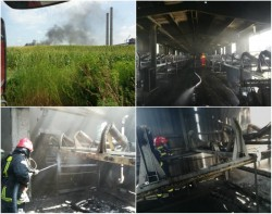 Incendiu la Centrala Electrică de Termoficare Arad