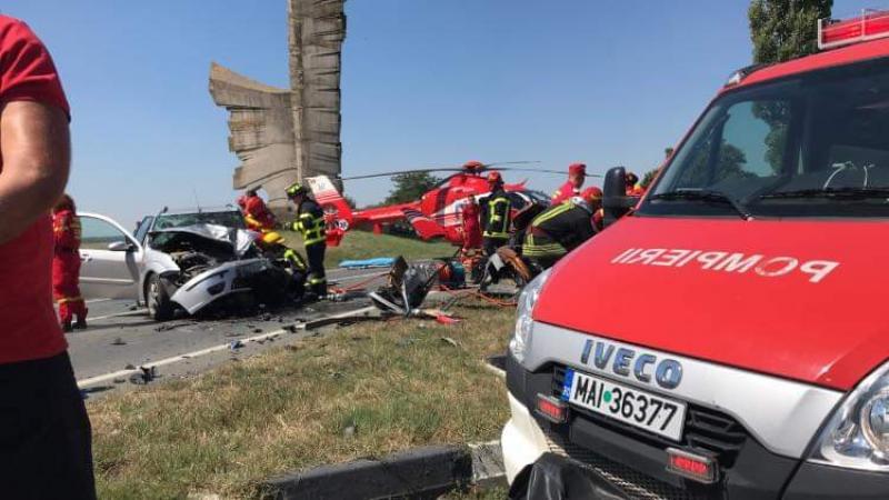 Accident cu patru victime, dintre care trei încarcerate la Păuliș