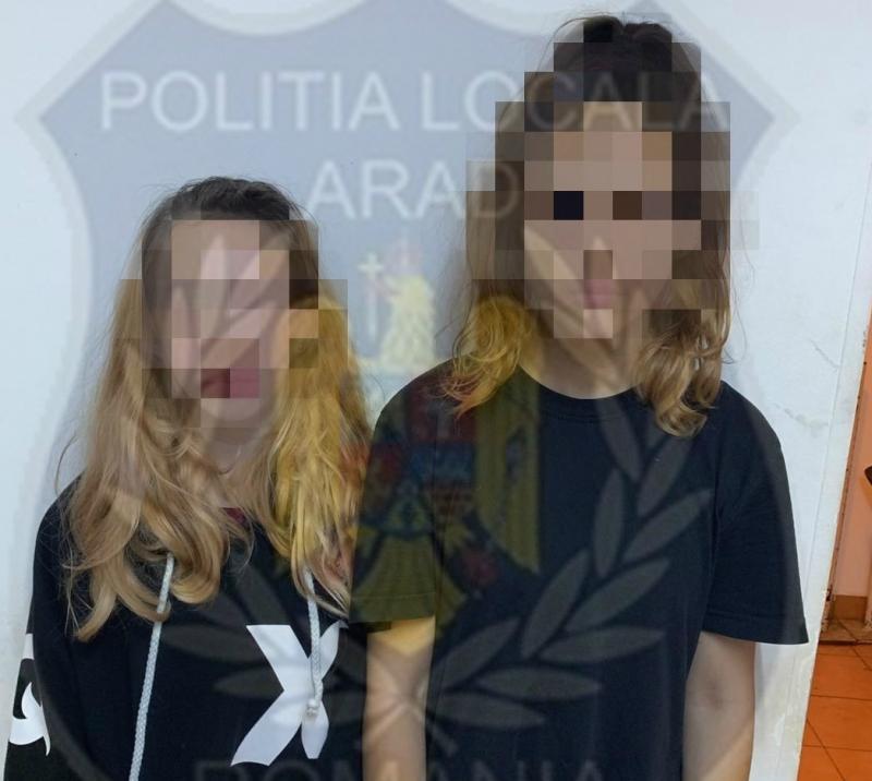Caz șocant în centrul Aradului! Două fetițe bete la 4 dimineața