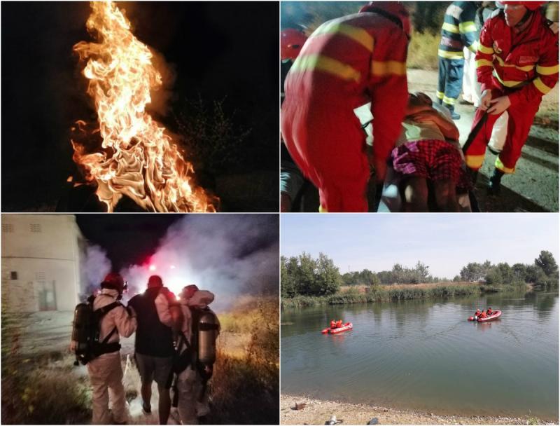 ISU Arad, salvatori pe uscat și pe apă