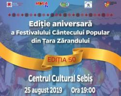 Ediţie aniversară a Festivalului Cântecului Popular din Ţara Zărandului